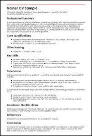 Trainer Cv Sample Myperfectcv Rh Co Uk Training And Development Specialist Resume Sales