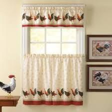 Kohls Kitchen Window Curtains by Kohl U0027s Country Garden 3 Piece Swag Tier Kitchen Window Curtain Set