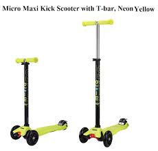 Maxi Micro Kick Scooter With T Bar Neon Yellow From Kids In Cheapest And Best Price