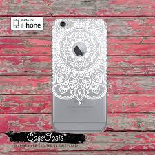 White Mandala Art Apple Indian Henna Tumblr Clear Case iPhone