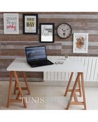 meuble bureau tunisie mobilier bureau treteau professionnel table ordinateur en bois noir