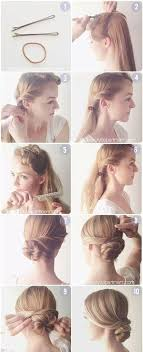 Hair Tutorials Diy Easy Bun Updos