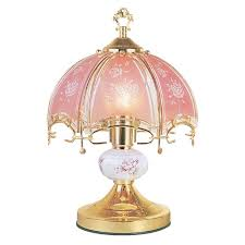 Ore International Floor Lamp Silver by Ore International 14 In Floral Brushed Gold And Pink Touch Lamp