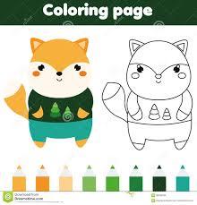 Dibujos De Kawaii Para Colorear Paginas Para Imprimir Y Colorear Dibujos De Zorros Kawaii Para Colorear