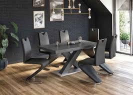 esstisch komfort c mit x gestell in graphit und mit auszugsfunktion breite 160 260 cm