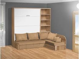 schrankbett mit lamellen und sofa vs3075 200x140 cm