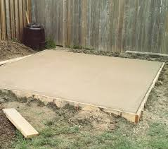 Cheap Shed Floor Ideas by Tips For Building A Storage Shed Concrete Slab Concrete And Coops