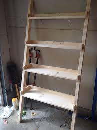decorating diy wooden ladder bookshelf for office furniture ideas