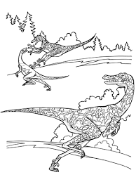 Click To See Printable Version Of Velociraptor Dinosaurs Coloring Page