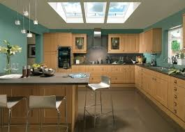 Turquoise Kitchen Decor With Wall Paint