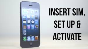 iPhone 5 How To Set Up Activate & Insert Remove SIM Card