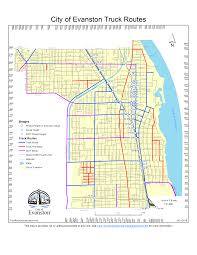 100 Truck Route Map S City Of Evanston