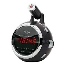 reveil heure au plafond clipsonic ar269n noir radio radio réveil clipsonic sur ldlc