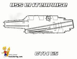 USS Enterprise Aircraft Ship To Colour At YesColoring