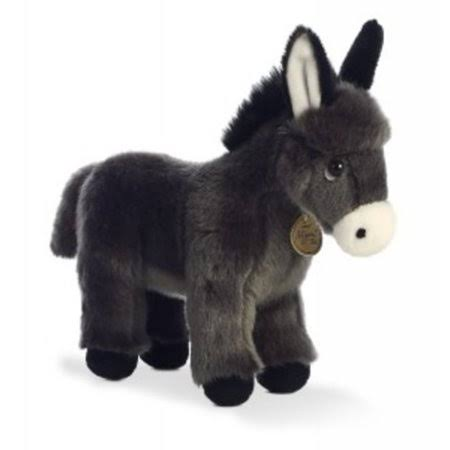 Aurora World Miyoni Donkey Foal Plush Toy - Black