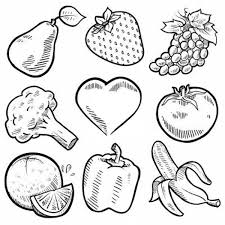 Tremendous Vegetables Coloring Pages Fruits And Nine Healthy For Veggies Kindergarten Pdf Printable