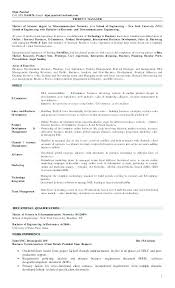 Product Manager Resume Example Samples Resumes Cell Email