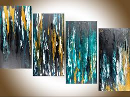 meteor shower ii by qiqigallery 48 x24 original modern abstract