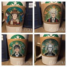 Doctor Who Art Series Drawn On Starbucks Coffee