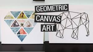 Decor DIY Geometric Canvas Art For Wall Ideas With Interior