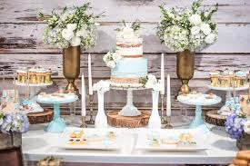 Dessert Table From A Rustic Chic Baby Shower On Karas Party Ideas