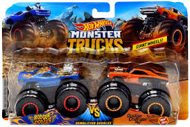 100 Hot Wheels Monster Truck Toys S Demolition Doubles Rodger Dodger Vs Dodge Charger DieCast Car 2Pack