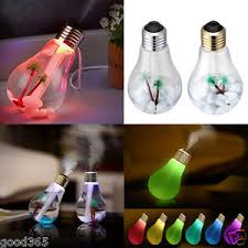 l bulb humidifier home aroma led humidifier air diffuser