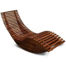 Wooden Ergonomic Sun Lounger