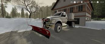 100 How To Plow Snow With A Truck Ford F750 Flatbed V10 FS19 Mods Farming