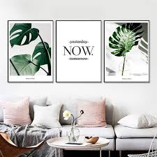 tropical plants leaves canvas vintage poster wall prints