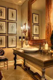Powder Room Wall Art Traditional With Wood Framed Mirror Bath Accessories Gallery