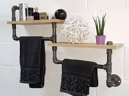 regal aus wasserrohr im industrial style handtuchhalter