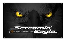 Harley Davidson Screamin Eagle Glowing Eyes Banner 3 X 5ft Black HARLNV010700