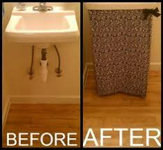 Burlap Utility Sink Skirt by No Sew Pedestal Sink Skirt Gotta Make One For My Ugly Bathroom