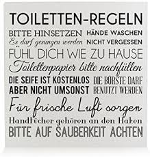 interluxe holzblock shabby toiletten regeln weiss badregeln schild aufsteller für das badezimmer deko