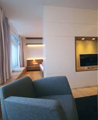 schlafbereich eines appartements innenarchitekt in münchen