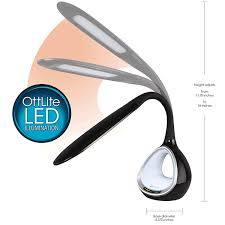 ottlite led desk l with colour changing tunnel and usb phone