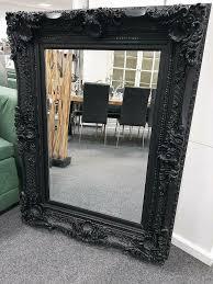 spiegel barock schwarz ornament rahmen