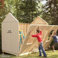 Slant Roof Shed Plans Free by Shed Plans Storage Shed Plans The Family Handyman