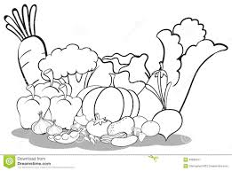 Clipart Ve ables And Fruits Black And White