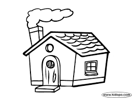 Little House Coloring Page