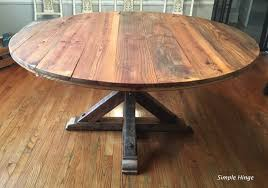 60″ Round Barn Wood Table | Simple Hinge Llc How To Build A Barn Wood Table Ebay 1880s Supported By Osborne Pedestals Best 25 Wood Fniture Ideas On Pinterest Reclaimed Ding Room Tables Ideas Computer Desk Office Rustic Modern Barnwood Harvest With Bench Wes Dalgo 22 For Your Home Remodel Plans Old Pnic Porter Howtos Diy 120 Year Old Missouri The Coastal Craftsman Fniture And Custmadecom