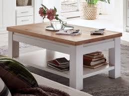 couchtisch wohnzimmer tisch olbia 115 x 65 cm pinie nordica weiß und wildeiche natur geölt massiv