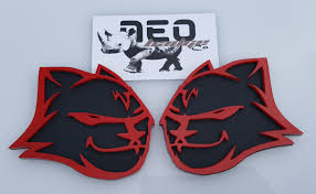 Hell Kitten Red & Black Custom Emblems | NEO Badge Co How To Remove Factory Badges And Decals In Ten Easy Steps Fender Outlawleds Another Set Of 9 Custom Painted Ford Oval Blems For Jason Chrome Emblems Emblemart Custom Car Truck Hotrod Status Grill Dodge Accsories 9297 Obs Ford Grille Badge 52018 F150 Oval Blackout Grey Lettering Overlay Set S3m Automotive Nameplates Badging Auto Finished My Forum Community A 643hp 2006 F250 Built For The Loving Lolly Photo Image Gallery Ford Brushed Carbon Black Charcoal Gray Billet Inc 062011 Ranger Tailgate Or Grill Blem Matte Black