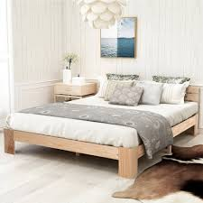 fangqi bettgestell holzbett doppelbett holzbett mit kopfteil aus bettgestell mit lattenrost 200 x 140 cm massivholz fsc massiv doppelbett als