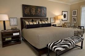 This Is An Interesting Example Because The Room In Earth Tones Predominately With Zebra