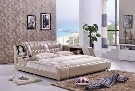 die moderne designer leder weichen bett große doppel schlafzimmer möbel amerikanischen stil