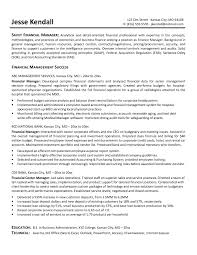 Resume Finance Director Student Template