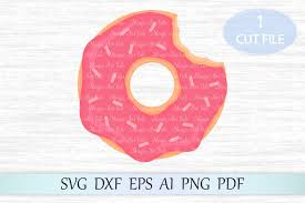 Pink Donut Svg Cute Clipart Cut File Sprinkle By MagicArtLab