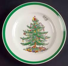 Spode Christmas Tree Green Trim Salad Plate